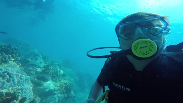 under water selfie - scuba diving stock videos & royalty-free footage