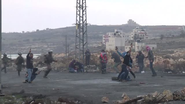 Undercover Israeli agents who had infiltrated a group of Palestinian stone throwers shot in the air during a protest at DCO checkpoint in the West...