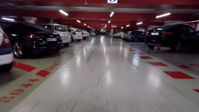 underground car park point of view. - parking stock videos and b-roll footage