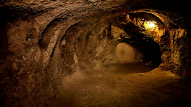underground city, derinkuyu, cappadocia, turkey - cappadocia stock videos and b-roll footage