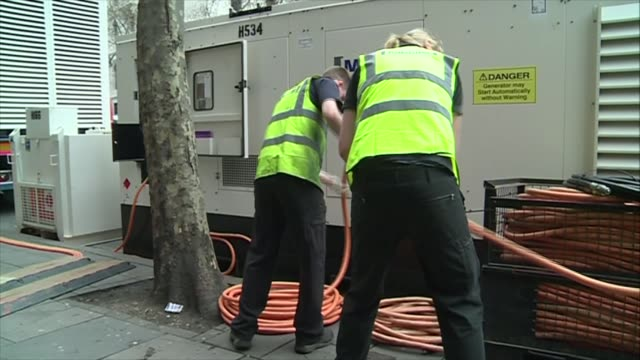 underground fire in holborn's kingsway finally put out england london holborn aldwych theatre poster promoting current carole king musical... - aldwych theatre stock videos & royalty-free footage