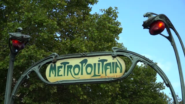 underground metro station, paris, france, europe - ornate stock videos & royalty-free footage