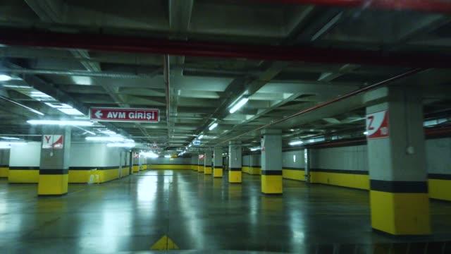 underground parking garage - multi storey stock videos & royalty-free footage