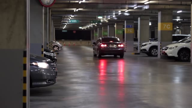 underground parking lot - stationary stock videos & royalty-free footage