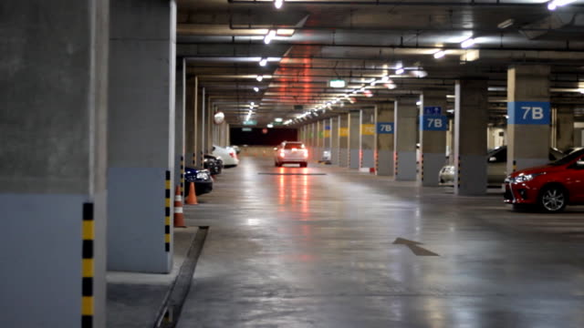 underground parking lot - parking stock videos & royalty-free footage