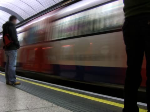 Underground subway - tube station, timelapse (PAL, NTSC)