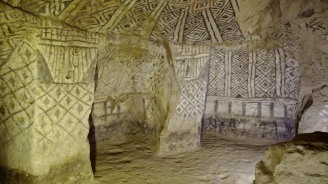 underground tomb of tierradentro - segovia stock videos & royalty-free footage