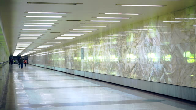 Underground walkway to the elevator