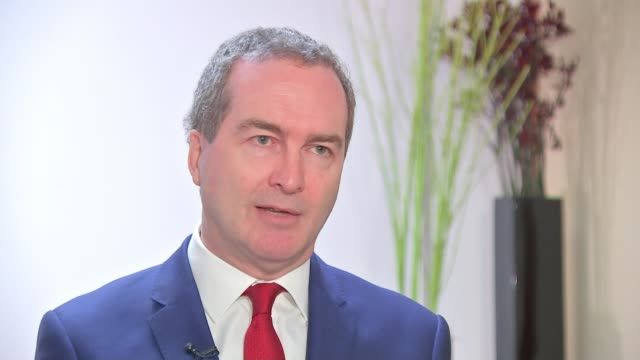 undersea internet connections are potentionally vulnerable to attack; england: int robert hannigan set up shots with reporter / interview sot - undersea video stock e b–roll