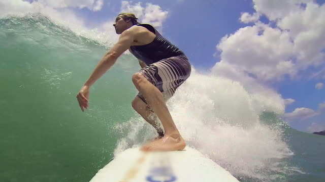 pov: underwater after surfer falls - oar stock videos & royalty-free footage