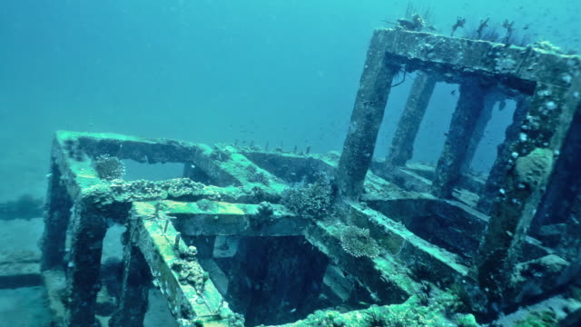 Underwater concrete structure innovative eco tourism coral reef nursery conservation project