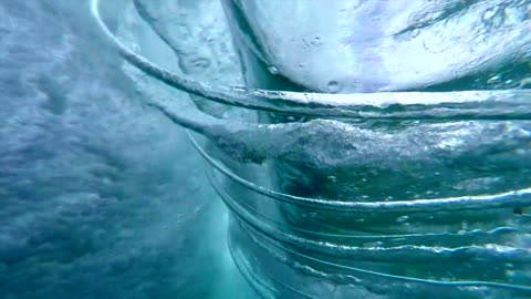underwater crystal spirals - water surface stock videos & royalty-free footage