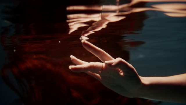 underwater dance. hand closeup - mindfulness stock videos & royalty-free footage