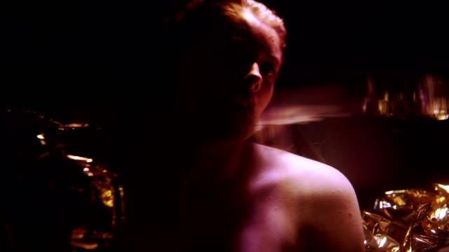 underwater dark night woman portrait - seduction stock videos & royalty-free footage