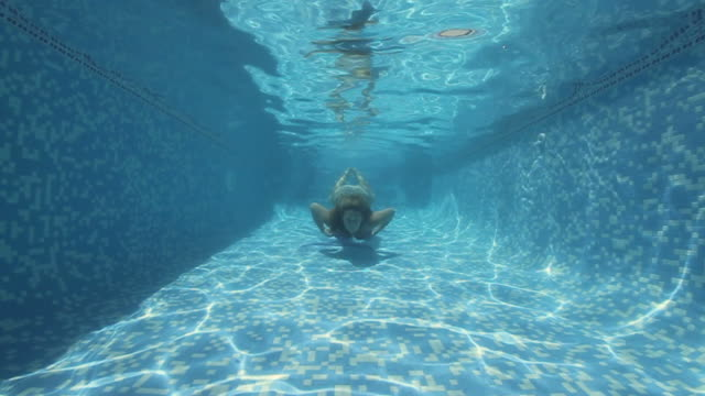 underwater fun - swimming costume stock videos & royalty-free footage