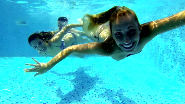 underwater fun. - 360 video stock videos & royalty-free footage
