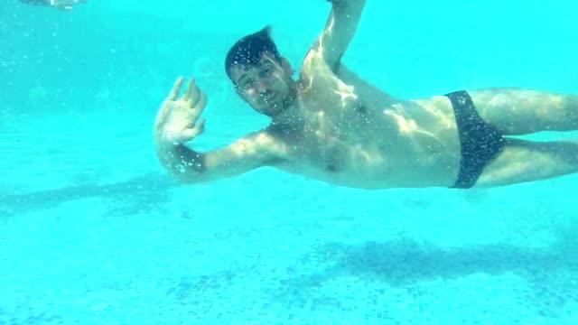 underwater fun. - swimming shorts stock videos & royalty-free footage