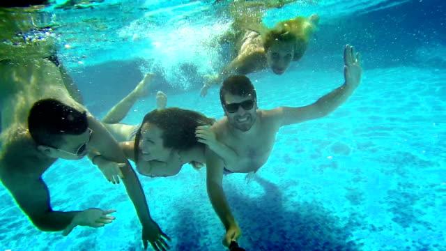 underwater fun. - mid adult stock videos & royalty-free footage