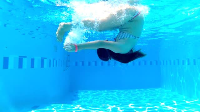 underwater fun - swimwear stock videos & royalty-free footage