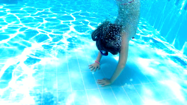 underwater fun - swimwear stock videos & royalty-free footage