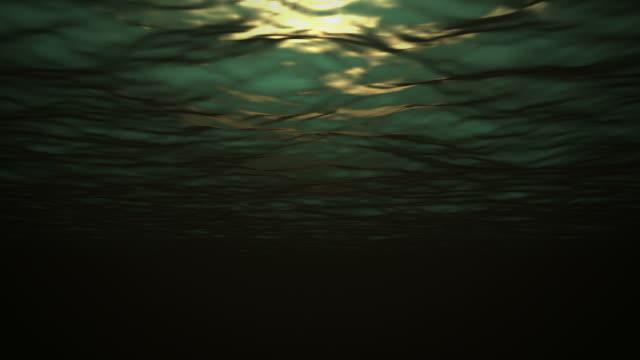 bg underwater mystic green looping (1080/30p) - mindre än 10 sekunder bildbanksvideor och videomaterial från bakom kulisserna