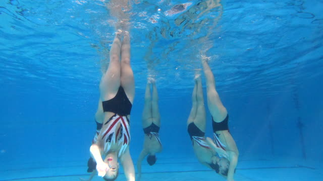 underwater performing act - woman swimming costume stock videos & royalty-free footage