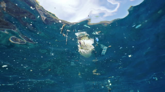 Underwater plastic pollution in the Ocean environmental cleanup