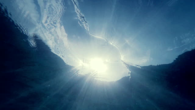 underwater rays in the ocean - sunbeam stock videos & royalty-free footage