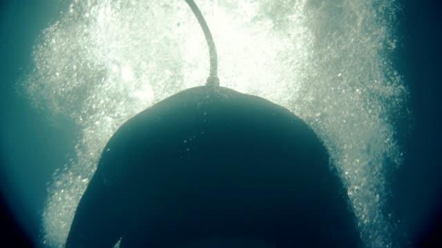 undervattens sensorisk deprivation. virtual reality terapi - sensorisk impuls bildbanksvideor och videomaterial från bakom kulisserna