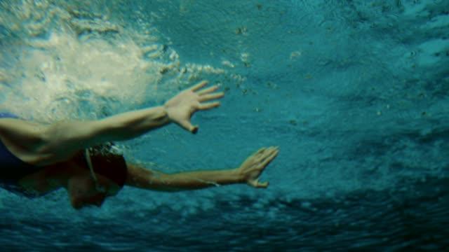Underwater shot of a female swimmer