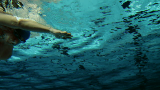 Underwater shot of a swimmer