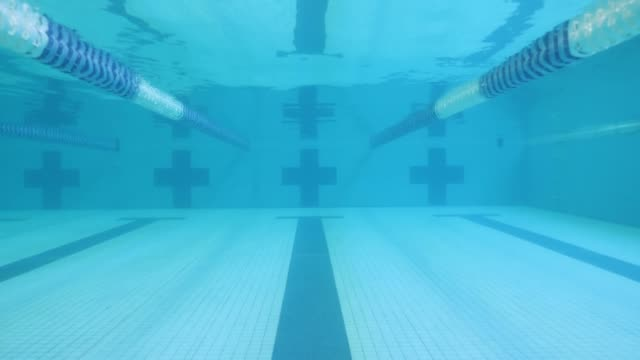 underwater shot of empty swimming pool - competitive sport stock videos & royalty-free footage