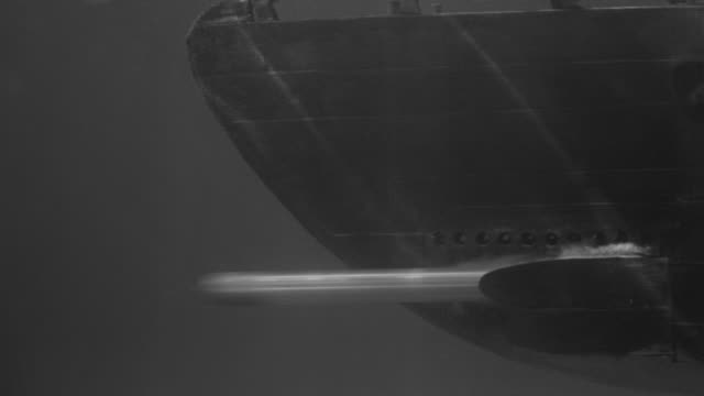 su pan underwater shot of submarine launching torpedo - torpedo stock videos & royalty-free footage
