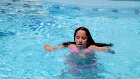 underwater somersault - wet hair stock videos & royalty-free footage