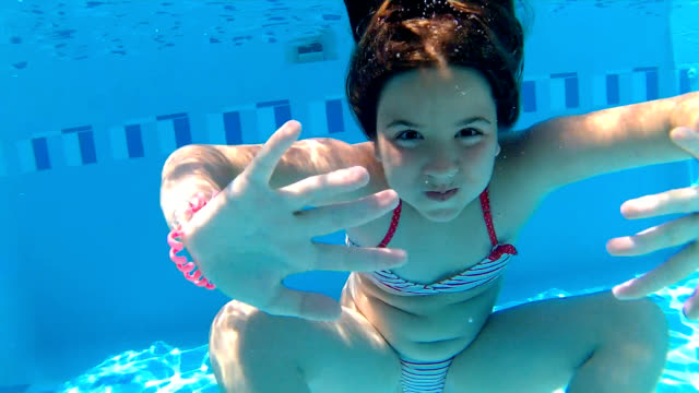 underwater somersault - pre adolescent child stock videos and b-roll footage