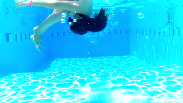 Underwater somersaults