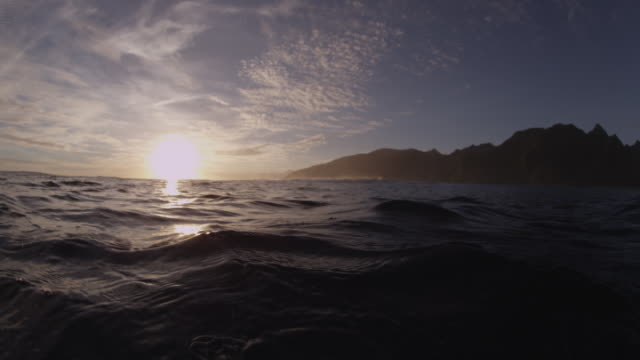 vídeos y material grabado en eventos de stock de pov underwater sun over the tahitian ocean - territorios franceses de ultramar