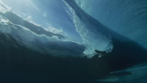 vídeos y material grabado en eventos de stock de underwater surfer - surf