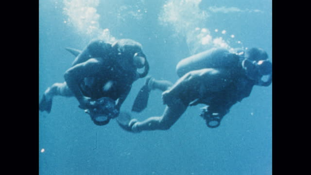underwater swimming helps train astronauts for space - alan b. shepard jr stock videos & royalty-free footage