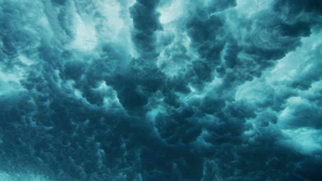 underwater wave in tahiti - tahiti stock videos & royalty-free footage