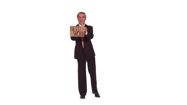 vídeos de stock e filmes b-roll de hd: desempregados empresário - camisa e gravata