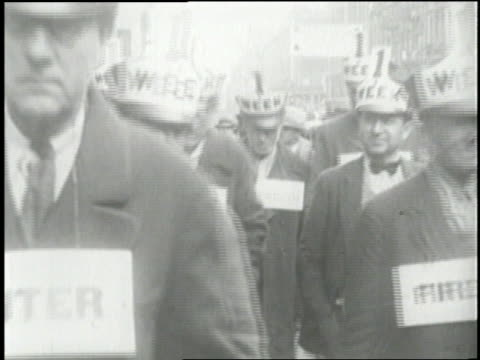 unemployed workers try to find jobs during the great depression - 1929 stock videos & royalty-free footage