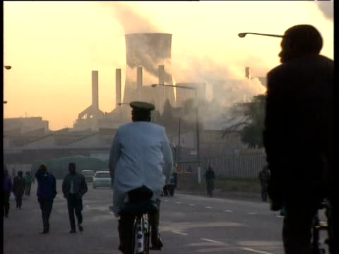 unemployed zimbabweans gather at city center 1990s - unemployment stock videos and b-roll footage