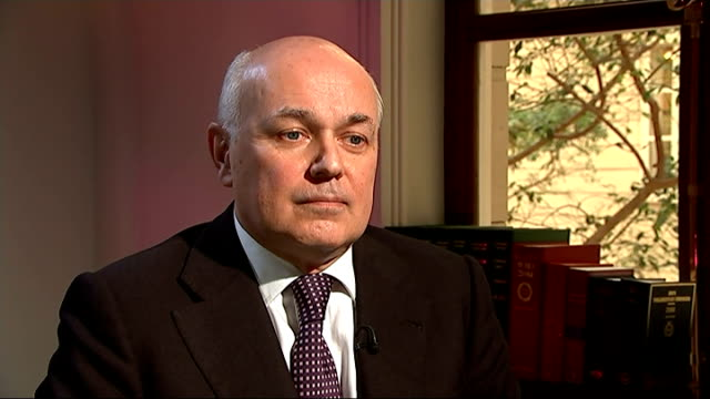 iain duncan smith interview duncan smith interview sot anniversary of fox hunting ban calls for repeals of ban - low unemployment stock videos & royalty-free footage