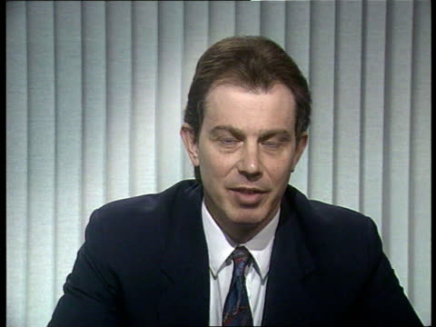 unemployment figures england itn/newcastle cms tony blair intvw sof hopes drop in figures are encouraging/ hopes government will make a fresh start... - newcastle upon tyne stock videos and b-roll footage