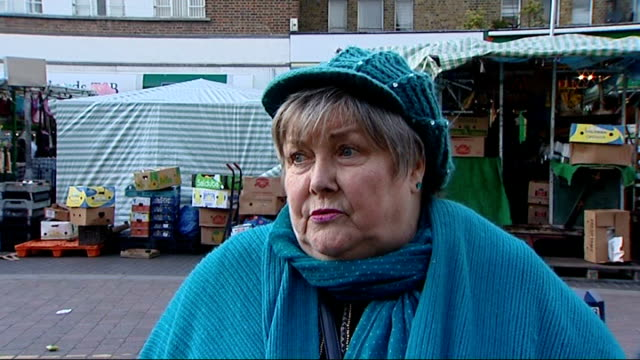 one million young people without jobs england london ext people along street lewisham general view of street people along people along reporter to... - media interview stock videos and b-roll footage