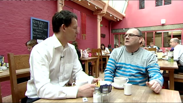 stephen stubbs offered job england county durham darlington ext stephen stubbs standing in pedestrianised high street stephen stubbs interview sot... - channel 4 news stock videos and b-roll footage