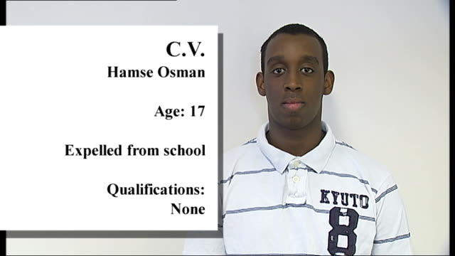 young londoners without qualifications england london newham dan lafronte / cv graphic grapicised shot kieren branch / cv graphic grapicised shot... - attending stock videos and b-roll footage