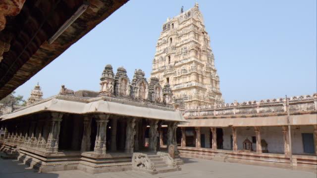 unesco world heritage site, virupaksha temple, hampi - temple building stock videos & royalty-free footage