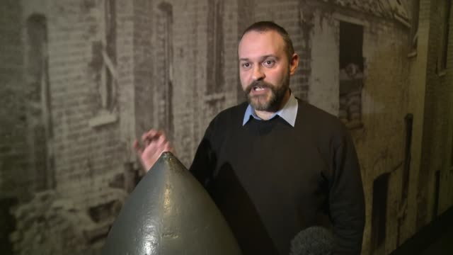 stockvideo's en b-roll-footage met unexploded bombs found so frequently construction firms factor them in planning imperial war museum int simon offord interview sot **offord interview... - imperial war museum museum